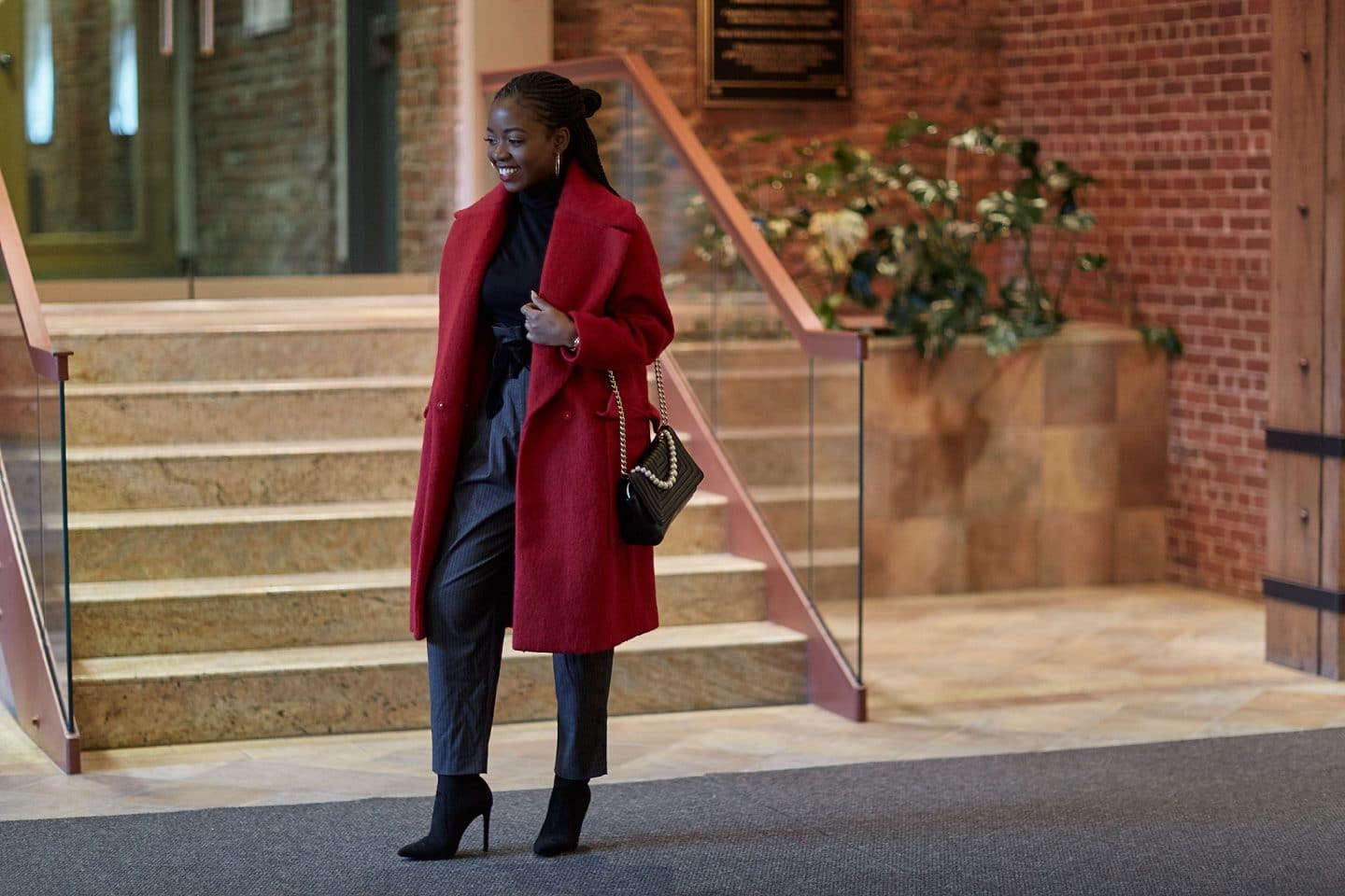 how to style red coat
