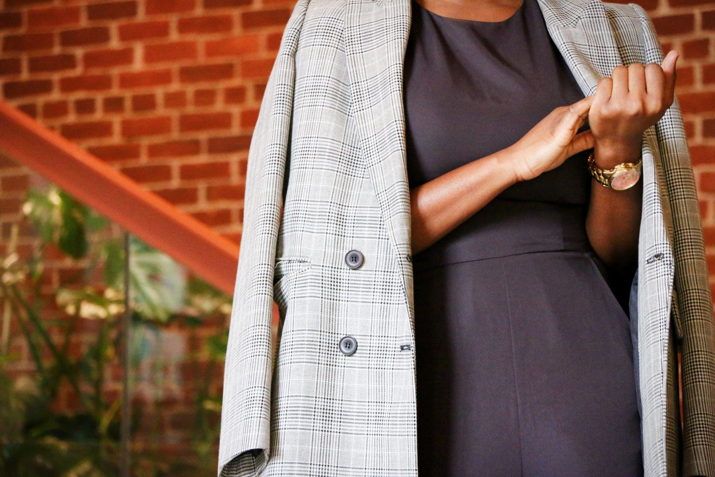 how to style a check coat