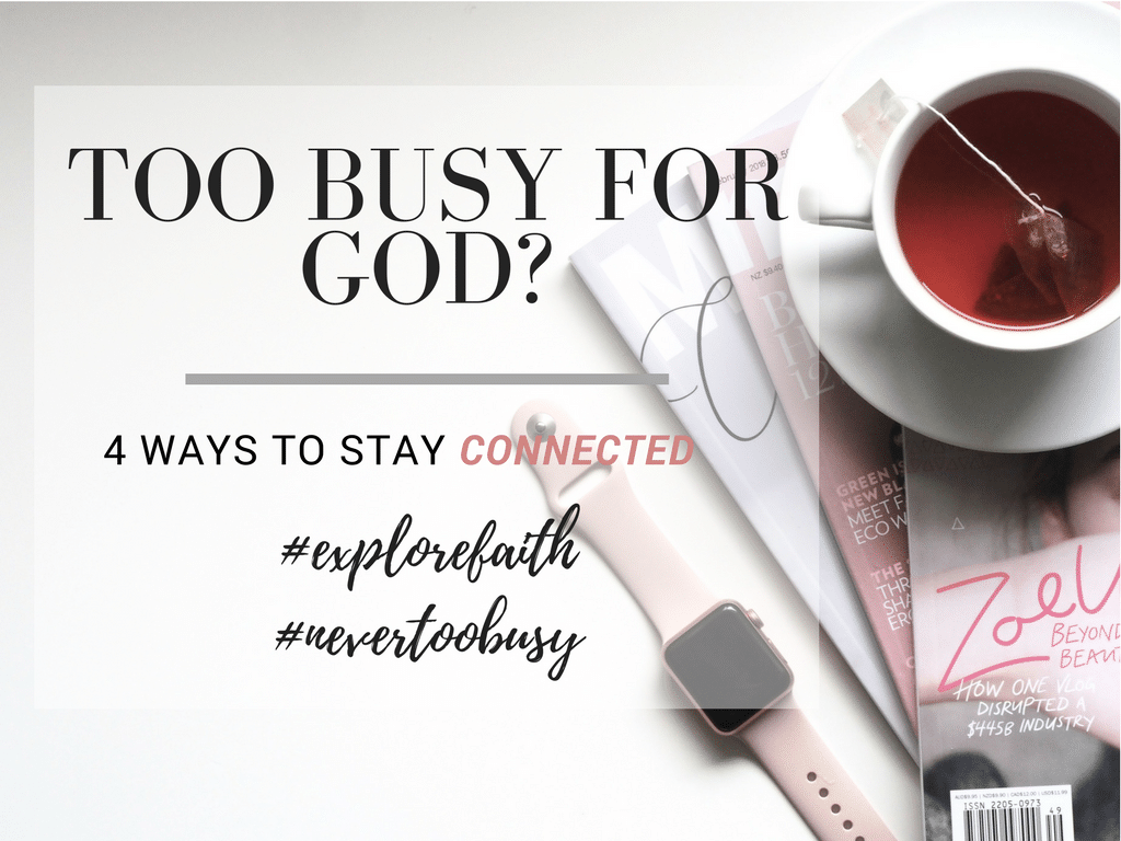 Too Busy For God?