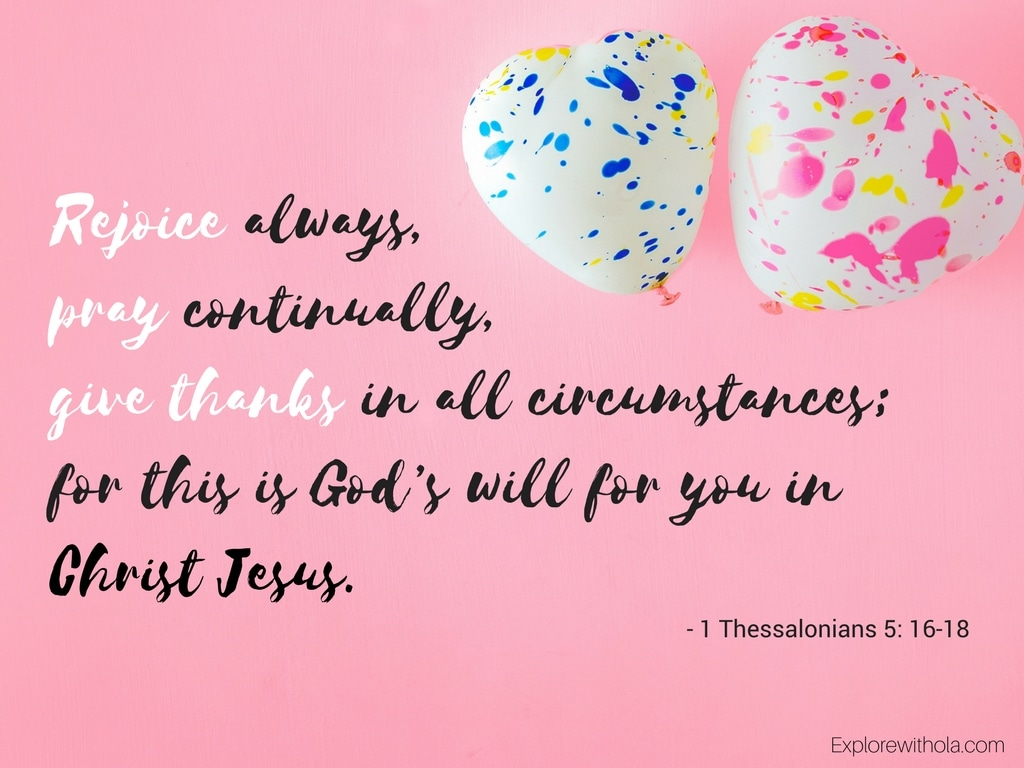 1 Thessalonians 5: 16-18