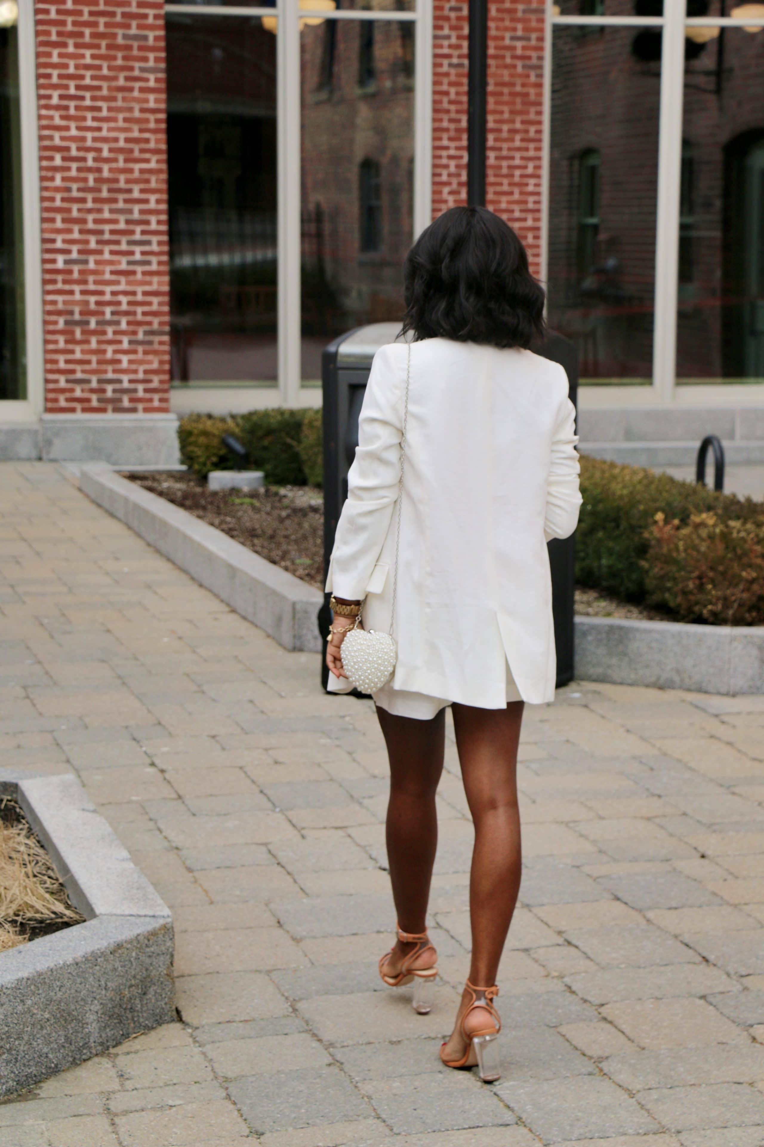 white blazer outfit