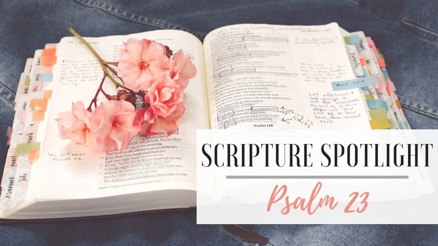 Scripture Spotlight – Psalm 23